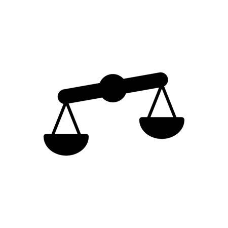 Échelle de la justice icône vecteur plat modèle de conception à la mode