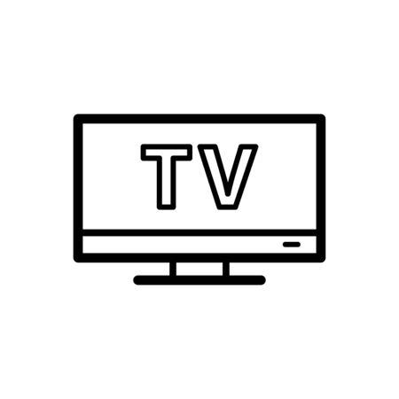 Monitor icon flat vector template design trendy