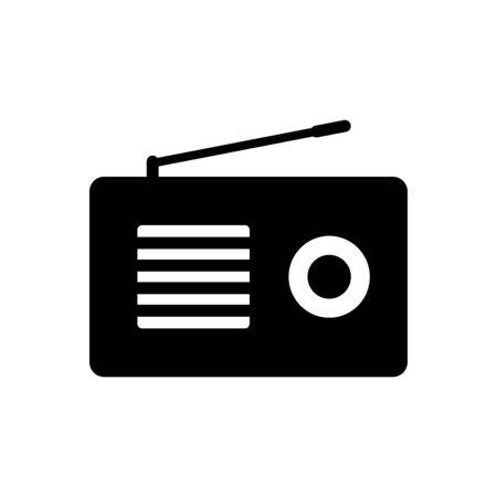 Radio icon flat vector template design trendy Иллюстрация