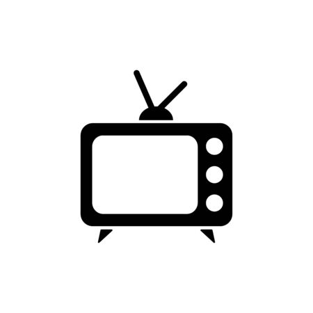 Television icon flat vector template design trendy