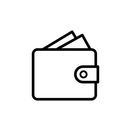 Wallet icon flat vector template design trendy