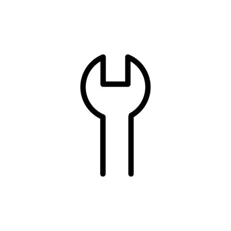 Wrench icon flat vector template design trendy