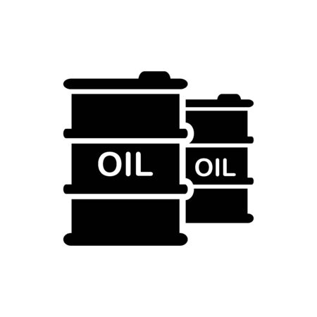 Oil barrel icon flat vector template design trendy