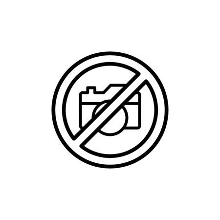 No camera icon flat vector template design trendy