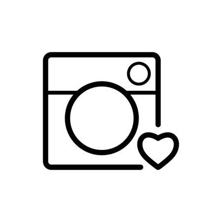 Camera icon flat vector template design trendy