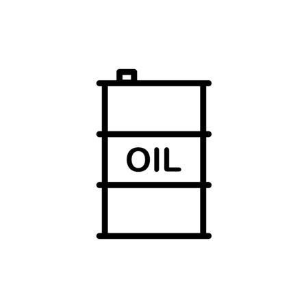 Oil barrel icon flat vector template design trendy