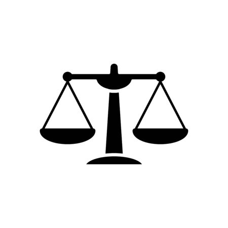 Scale of justice icon flat vector template design trendy