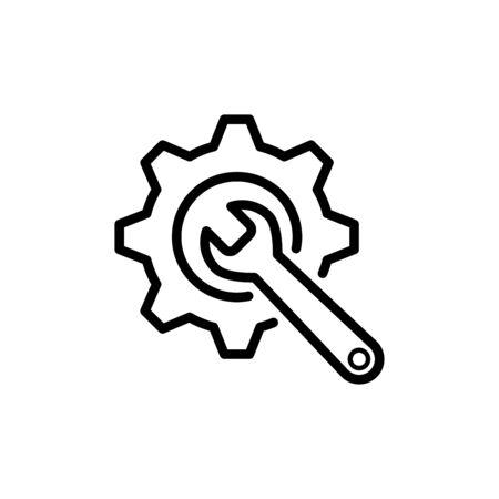 Gear icon flat vector template design trendy Illustration