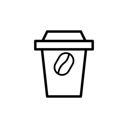 Take away cup icon flat vector template design trendy Çizim