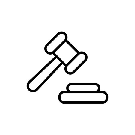 Hammer of justice icon flat vector template design trendy Vektorgrafik