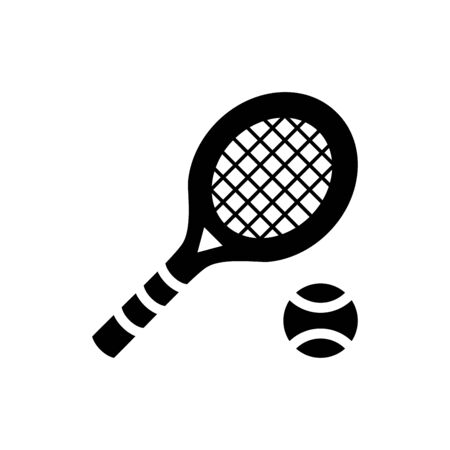 Tennis icon flat vector template design trendy