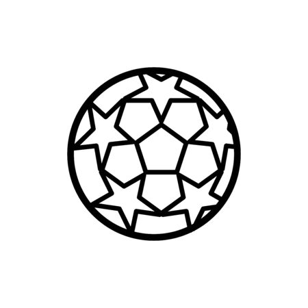 Soccer ball icon flat vector template design trendy
