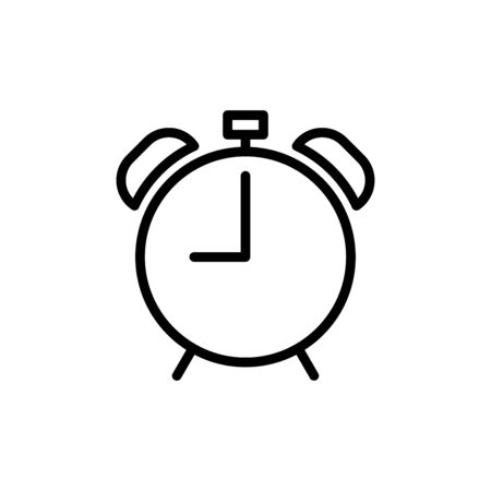 Alarm bell icon flat vector template design trendy Vettoriali