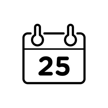 Calendar icon flat vector template design trendy
