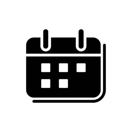 Calendar icon flat vector template design trendy Illustration