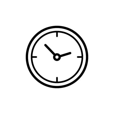 Clock icon flat vector template design trendy Illustration