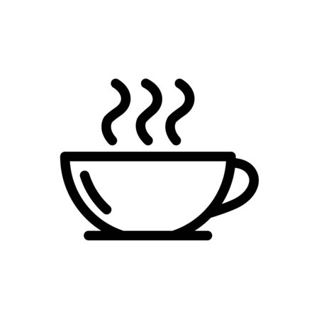 Coffee cup icon flat vector template design trendy Çizim