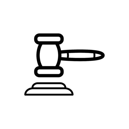 Hammer of justice icon flat vector template design trendy