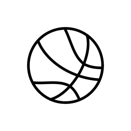 Basketball icon flat vector template design trendy Vecteurs