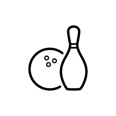 Bowling icon flat vector template design trendy Vector Illustratie