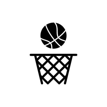 Basketball icon flat vector template design trendy