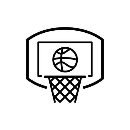 Basketball icon flat vector template design trendy Illustration