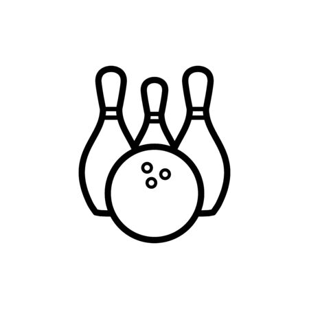 Bowling icon flat vector template design trendy