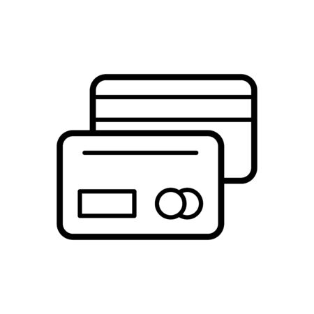 Credit card icon flat vector template design trendy