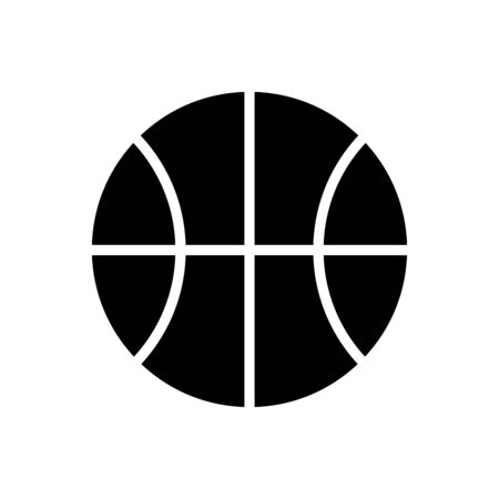 Basketball icon flat vector template design trendy Illusztráció