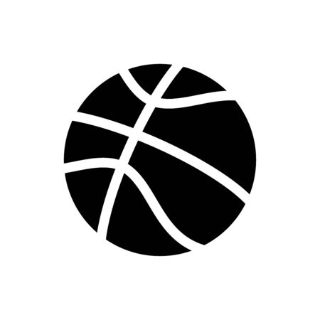 Basketball icon flat vector template design trendy Illustration