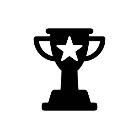 Trophy icon flat vector template design trendy Illusztráció