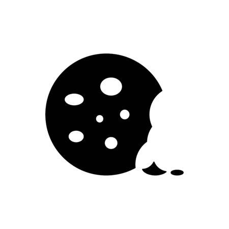 Cookies icon flat vector template design trendy