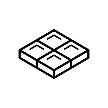 Chocolate icon flat vector template design trendy