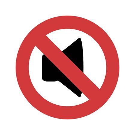 No sound icon flat vector template design trendy