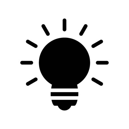 Light bulb icon flat vector template design trendy