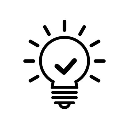 Light bulb icon flat vector template design trendy