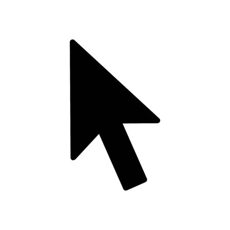 Arrow pointer icon flat vector template design trendy