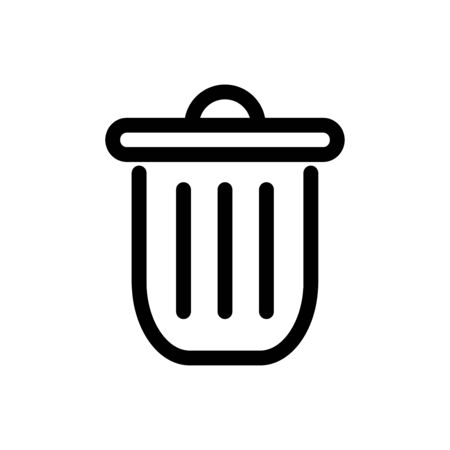 Trash can icon flat vector template design trendy Çizim