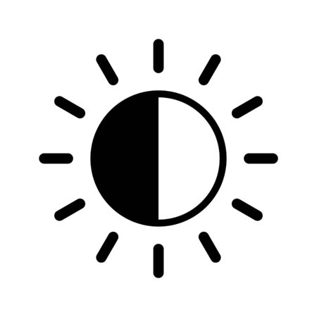 Brightness icon flat vector template design trendy