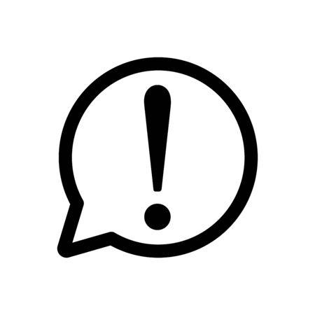 Bubble speech icon flat vector template design trendy