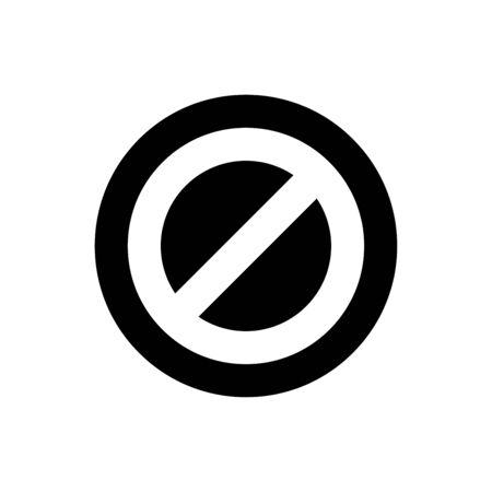 Stop icon vector illustration template design trendy