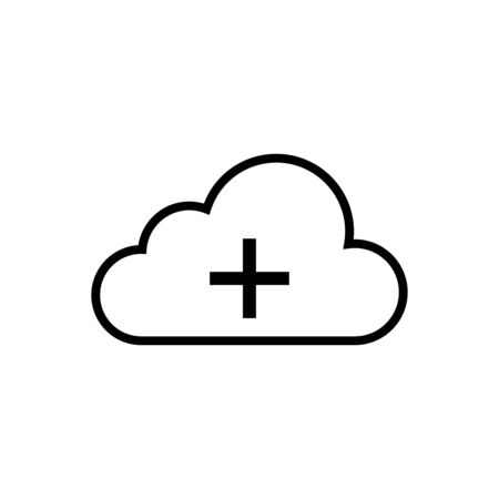 Cloud weather icon vector illustration template design trendy Çizim