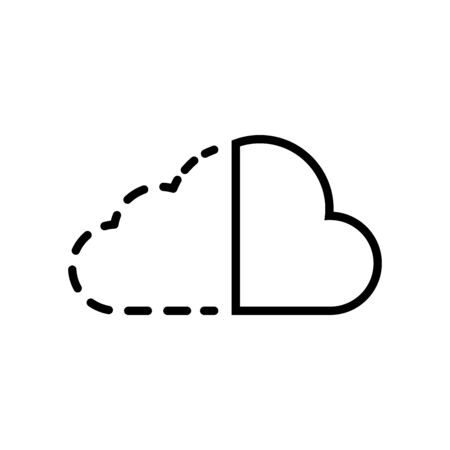 Cloud technology icon vector illustration template design trendy