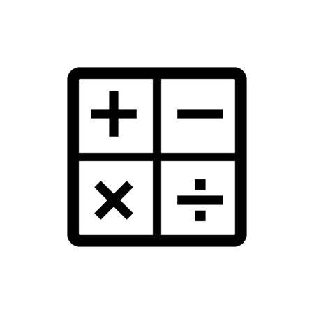 Calculator icon flat vector template design trendy Illustration