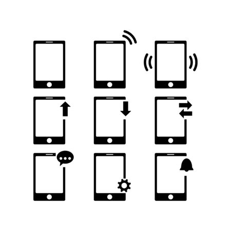 Smartphone icon flat vector template design trendy Illustration