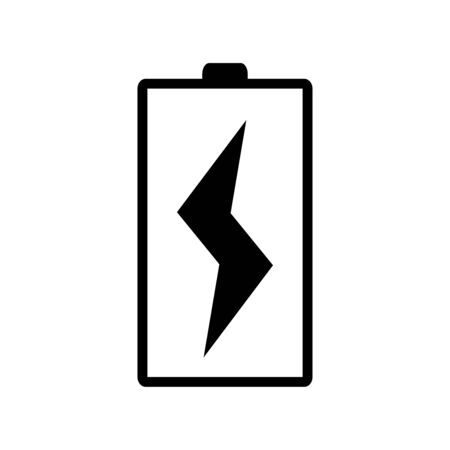 Battery icon flat vector template design trendy Çizim