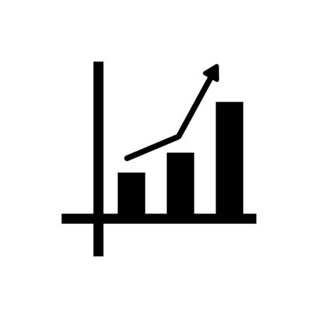 Chart icon vector illustration template design trendy
