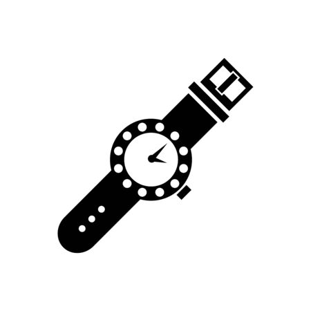 Wrist watch icon flat vector template design trendy