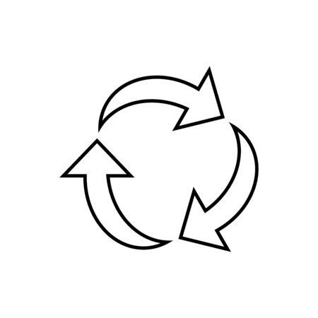 Arrow icon flat vector template design trendy