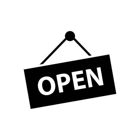 Open closed icon flat vector template design trendy